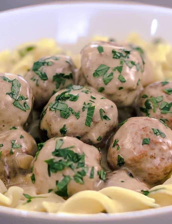 Crock-pot Swedish Meatballs