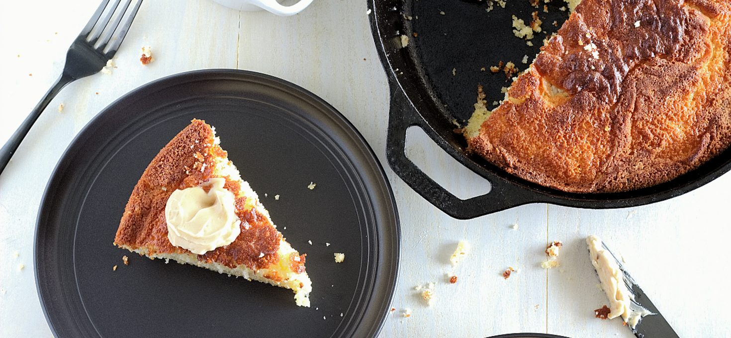 Skillet Cornbread with Whipped Honey Butter
