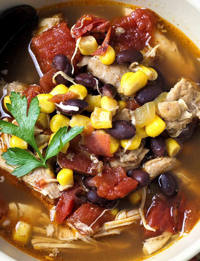 Crockpot Southwest Chicken Soup