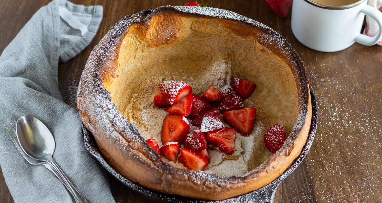 Simple Dutch Baby with Fresh Strawberries